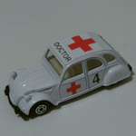 Edocar 1989  Ambulance Doctor Citroen 2cv  Retro Die-cast model car @SOLD@